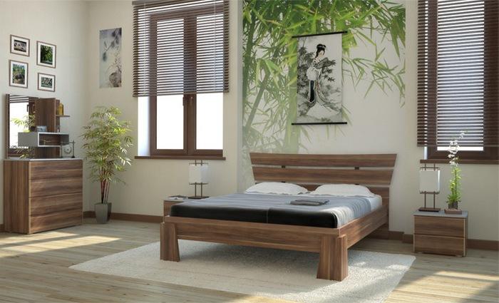 Готовая композиция спальня Гелла-2 Сакура
