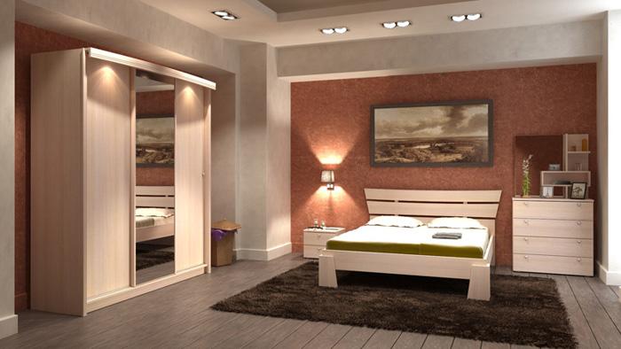 Готовая спальня Гелла-1 Сакура