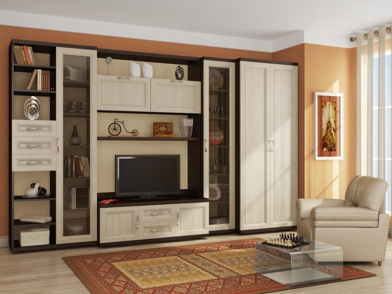 Дизайн корпусной мебели в гостиную