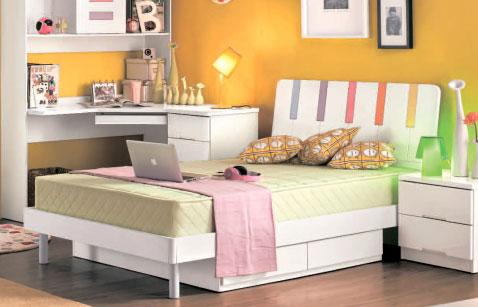 Кровать 90 см с двумя ящиками Elsie White